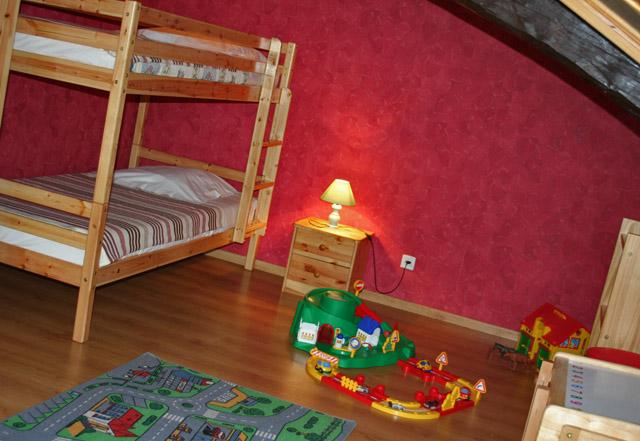 La chambre des enfants du gite rural