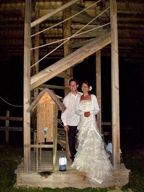 Demande en mariage dans notre cabane dans l'arbre